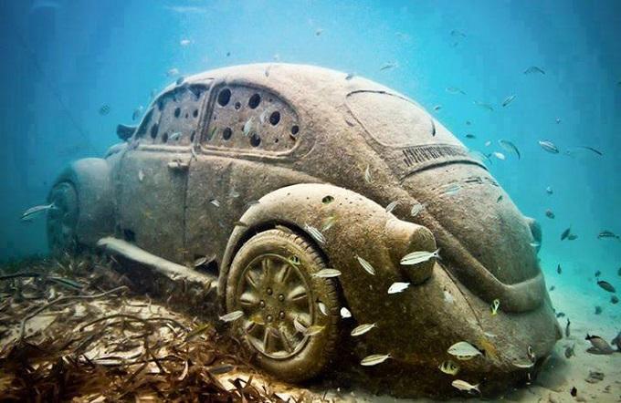Außergewöhnliche Orte auf der Welt: MUSA Museum unter Wasser, Cancún, Mexiko