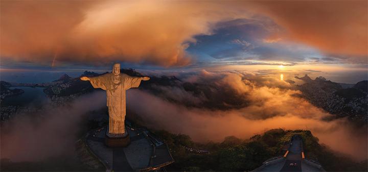 Rio de Janeiro bei Sonnenuntergang