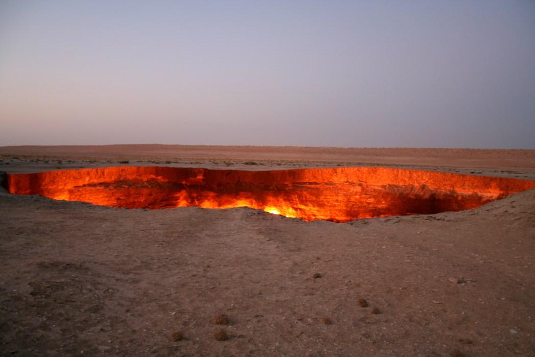 Die 20 spektakulärsten Wunder der Natur: Krater von Derweze, Turkmenistan