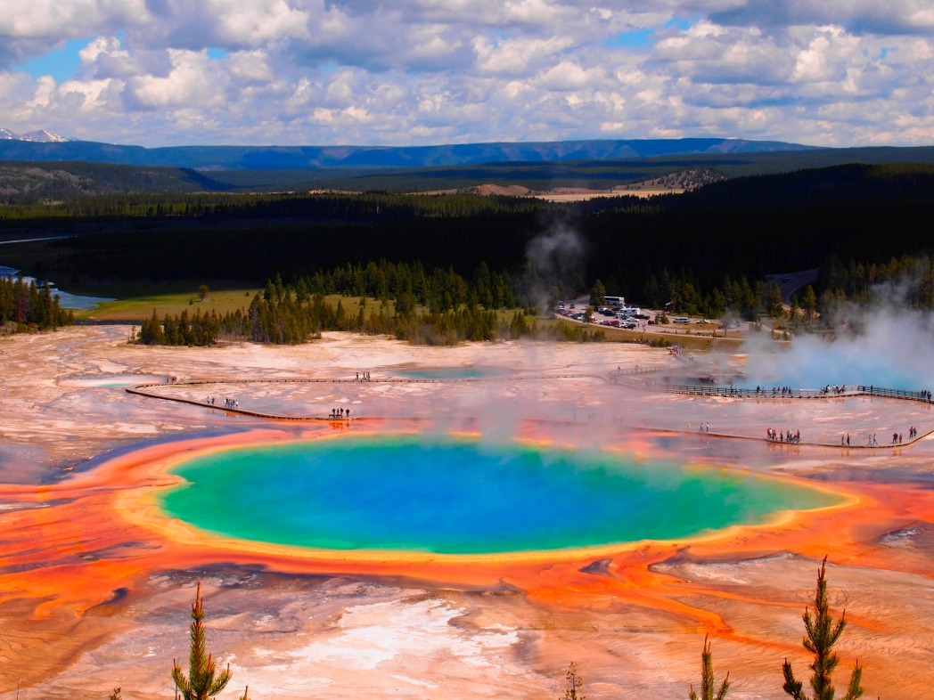 Die 20 spektakulärsten Wunder der Natur: Grand Prismatic Hot Spring im Yellowstone National Park