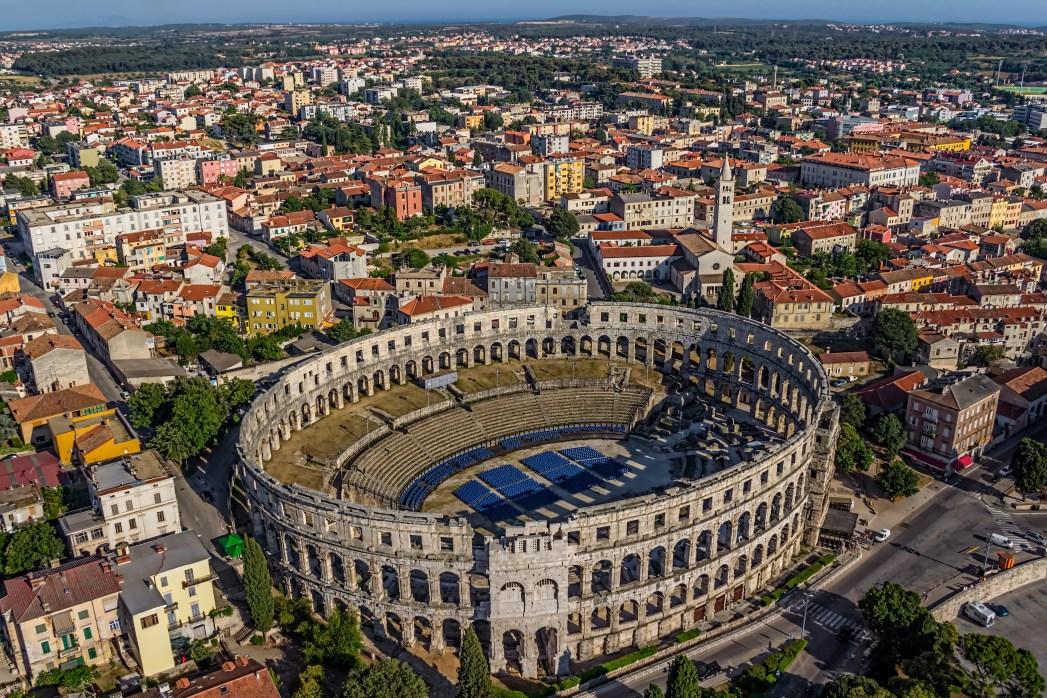 Kino Kroatien, Pula, Amphitheater