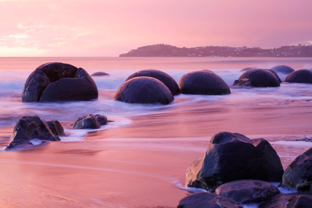 Die 20 spektakulärsten Wunder der Natur: Moeraki Boulders in Neuseeland