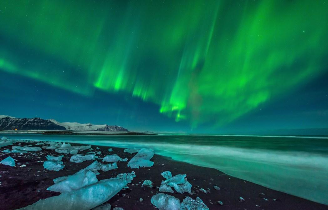 Nordlichter Aurora Borealis, Island