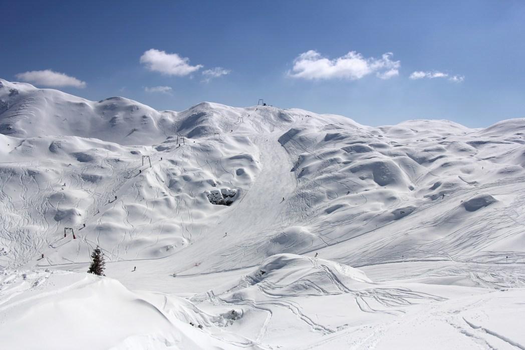 Skifahren Nebensaison