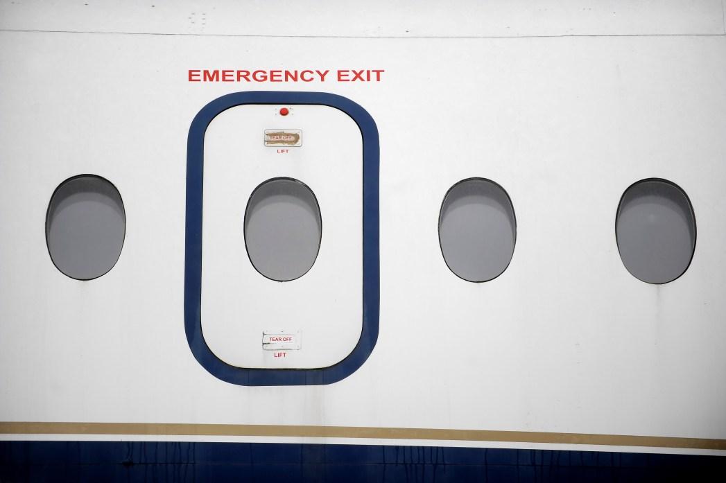 Notausgang Flugzeug