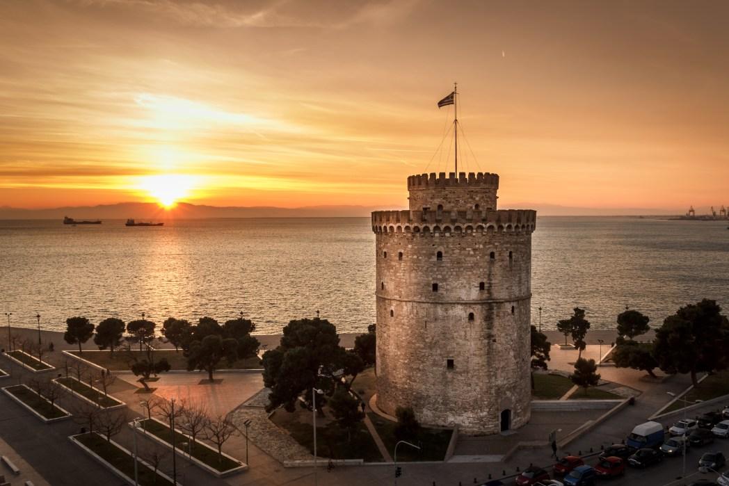 Europäische Städte am Meer mit Strand: Thessaloniki, Griechenland