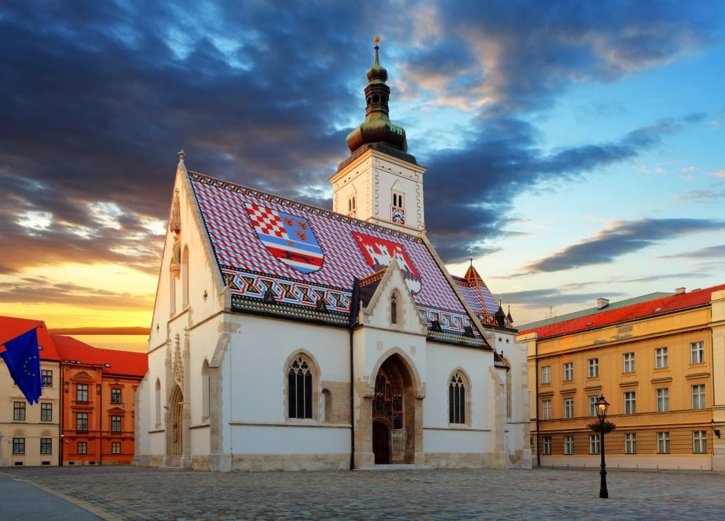 Zagreb Wappen Kirche, Kroatien