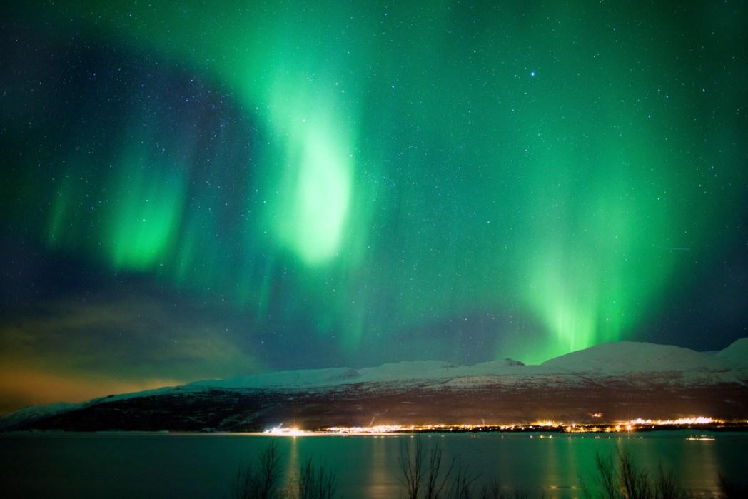 Aurora Borealis Nordlichter Lappland