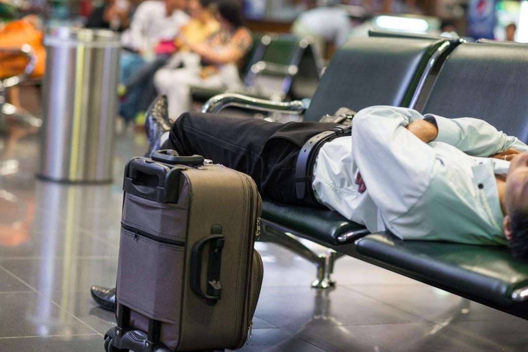 Schlafen am Flughafen: Sicherheit geht vor