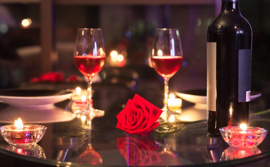 Romantische Candle-Light Dinner Atmosphere