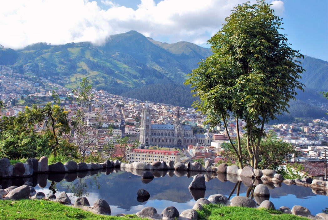 Warm auch im Winter: Quito in Ecuador