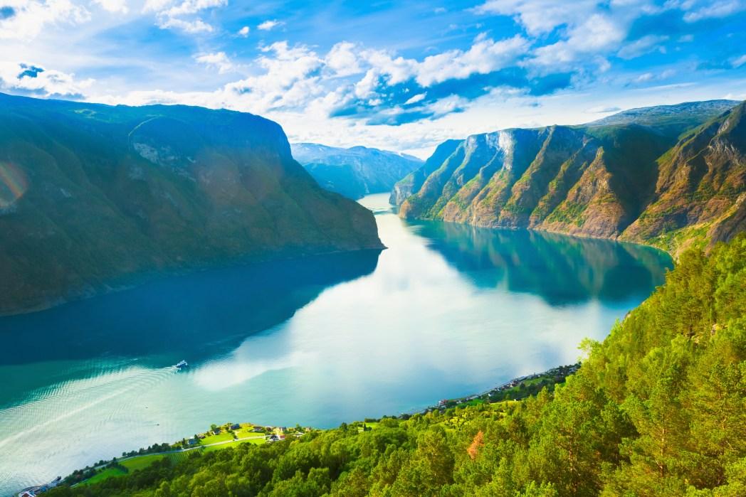 Frühling Urlaub: Sognefjorden, Norwegen