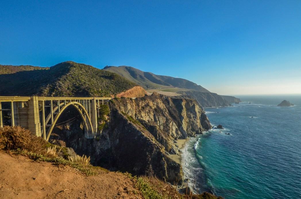 Dramatische Road Trips: Pacific Coast Highway Bixby Creek Bridge