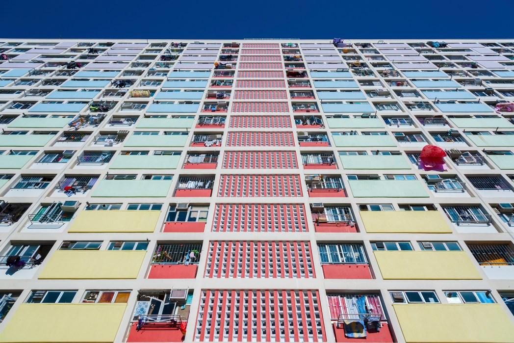 Schöne Häuser in Hongkong