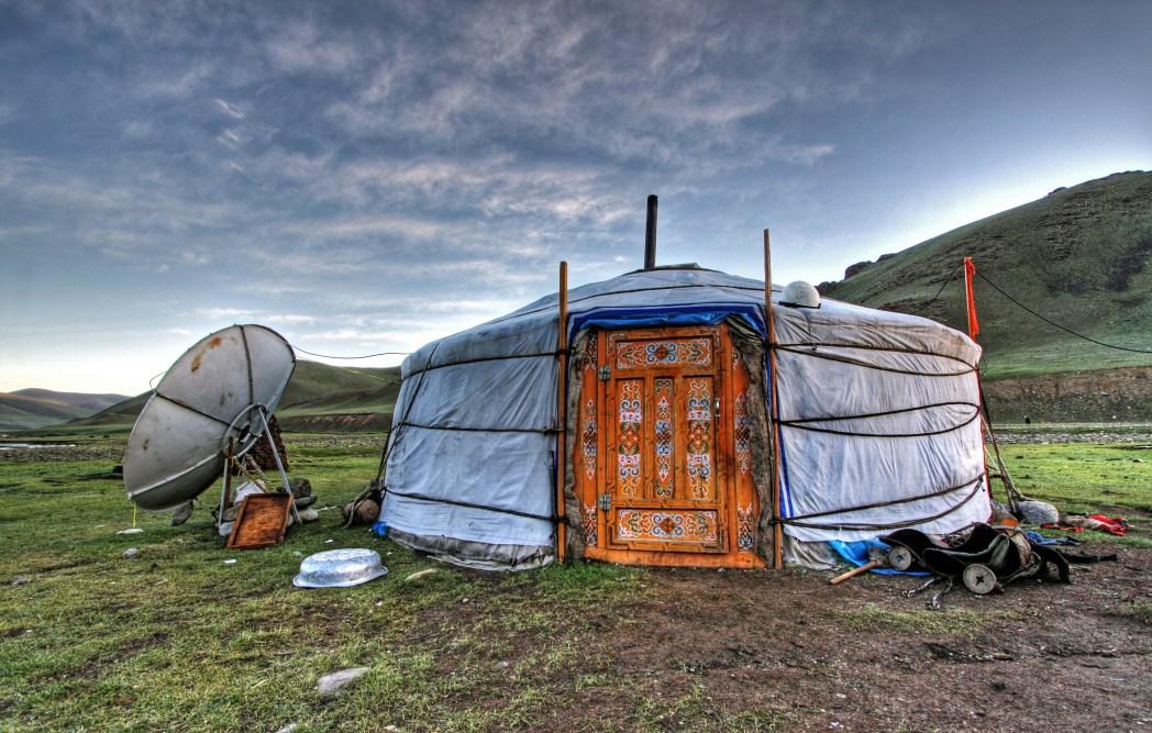 Schöne Häuser in der Mongolei