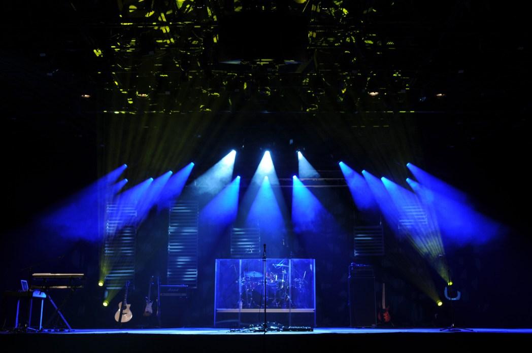 Konzertbühne vor der Show