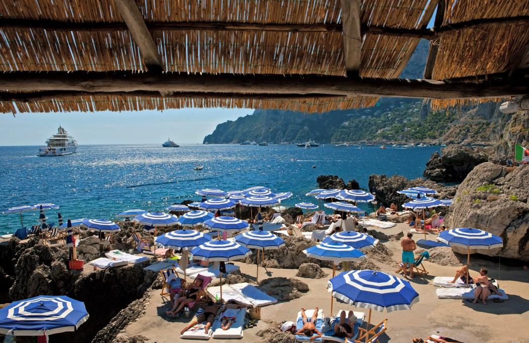 Die schönsten Strände in Italien: Der Strand von La Fontelina , Kampanien