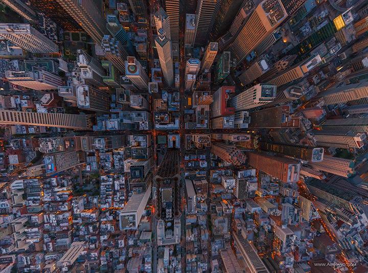 Downtown San Francisco in der Vogelperspektive