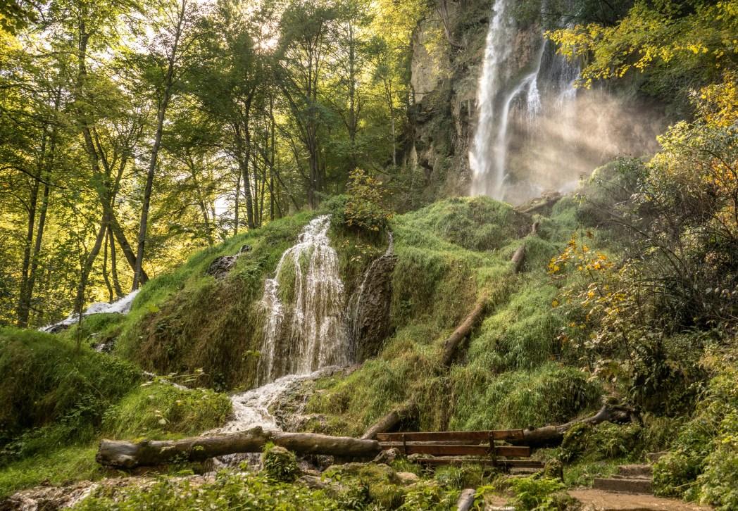 Die schönsten Wasserfälle in Deutschland: Uracher Wasserfall