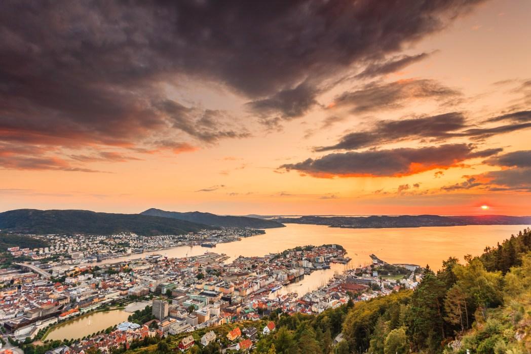 Sehenswürdigkeiten in Norwegen: Städtetrip nach Bergen und zum Berg Floyen
