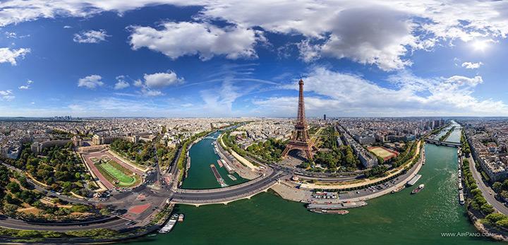 Panorama von Paris aus der Luft