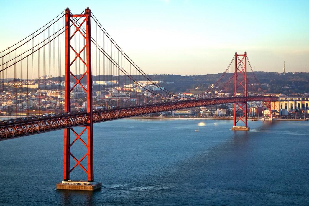 Hängebrücke Ponte 25 de Abril, Lissabon