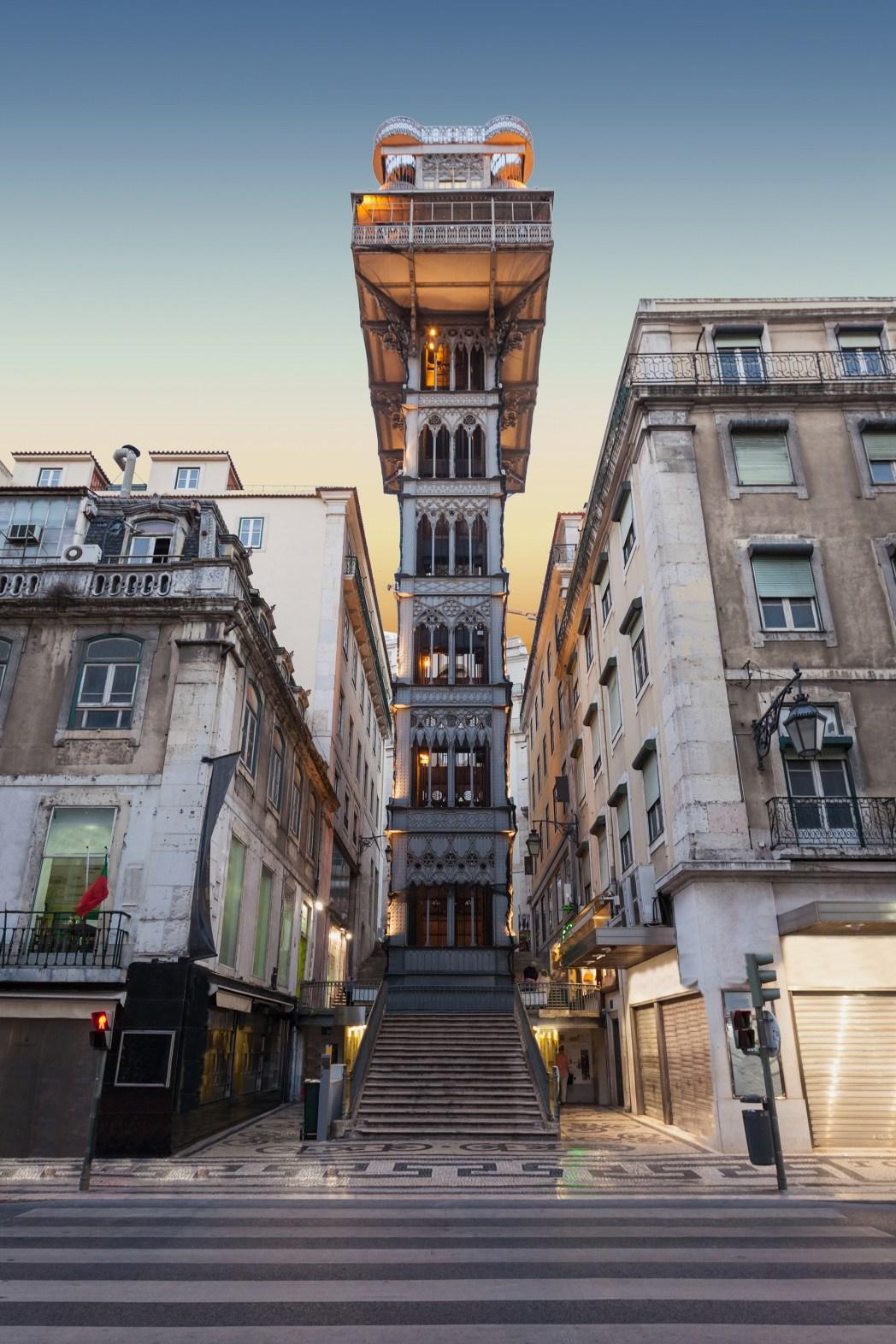 Aufzug Lissabon Stadt