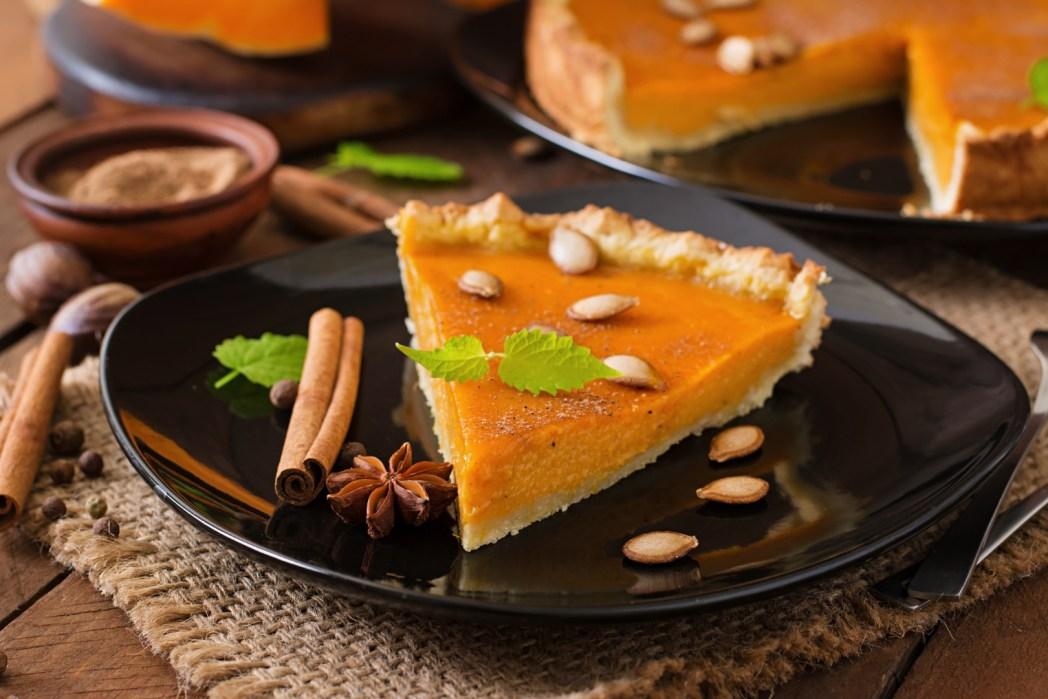 Pumpkin Pie gibt's nicht nur zu Weihnachten sondern auch zu Thanksgiving in den USA.