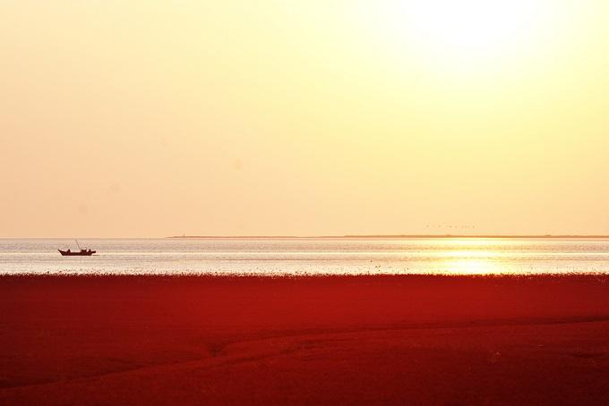 Außergewöhnlich schöne Urlaubsorte: Roter Strand, Dawa, China