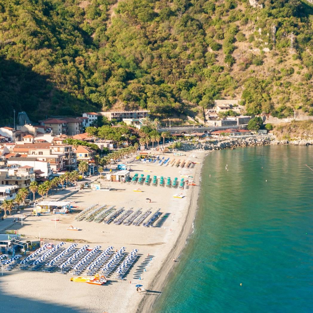 Die schönsten Strände in Italien: Der Strand von Scilla, Kalabrien