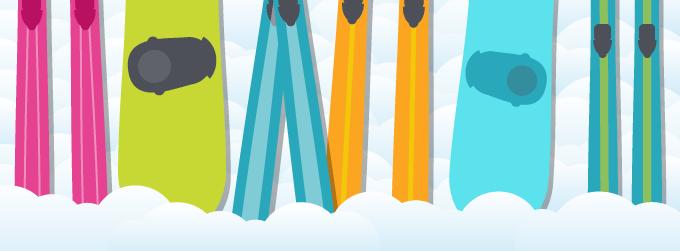 Ski und Snowboard im Flieger