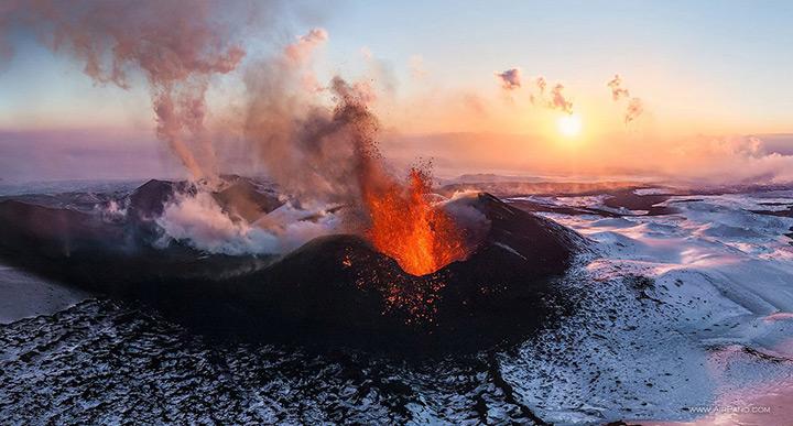 Volcano Tolbachik auf Kamtschatka